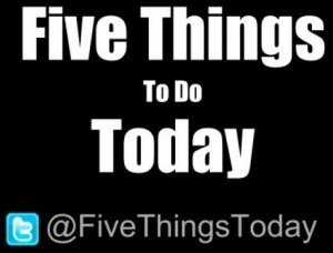 5 Things To Do Today Podcast: Self-Development